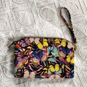 LODIS - Leather  Multicolor Butterfly Pouch